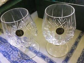 Cuchulainn Irish Crystal - 2 Brandy glasses and decanter - Brand New