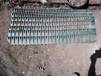 FREE plastic lawn edging 8 lengths, approx 1.2m each.