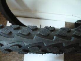 """Mountain bike tyres (2) 26"""" superb tread"""
