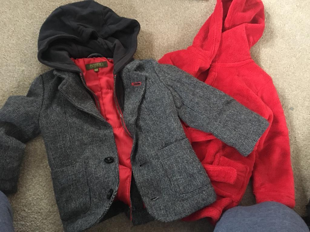 Genuine TED BAKER boys coat 18-24 months and red dressing gown 2-3 ...