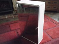 White gloss bathroom cabinet with mirror Homebase