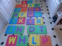 Foam kids floor mats a - z complete alphabet set with bag