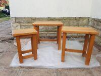 Nest of Tables in Oak