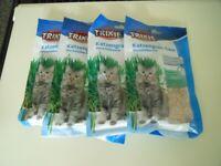 Four Packets of Trixie Cat Grass Refiller