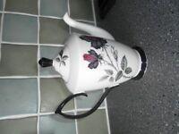 Vintage Royal Albert Masquerade Black Rose Coffee Pot
