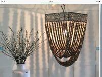 Ornate bead ceiling light
