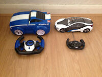 Radio Control cars Mustang street car and BMW i8