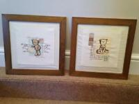 Mamas and papas Bear wooden framed pictures