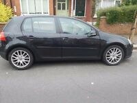 2006 VW Golf 2.0 GT TDI black 170bhp,75k,Just Serviced,excellent condition, Service History, New MOT
