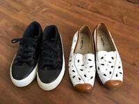 Two pairs of women shoes,size 5,hardly worn