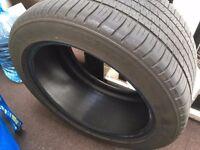Michelin Pilot Sport 3 car tyre - 285/40 ZR18 101Y (superb condition, no repairs, rare size)