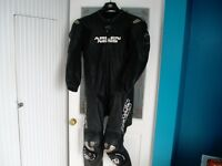 ARLEN NESS ONE PIECE MOTOR BIKE KANGAROO LEATHER SUIT WITH TITANIUM PROTECTORS WORN ABOUT 6 TIMES