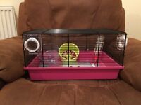 A used but very well looked after small hamster cage with accessories.£10