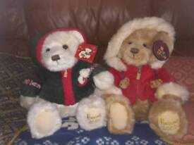 2 large harrods Christmas bears with tags