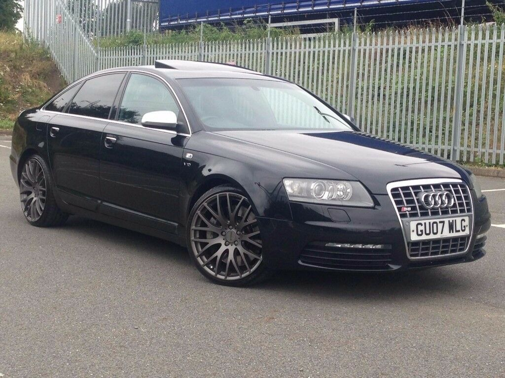 2007 mar 07 audi s6 5 2 v10 fsi quattro tiptronic saloon 4 dr auto petrol black fsh mot. Black Bedroom Furniture Sets. Home Design Ideas