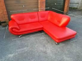 Leather red corner