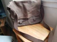 Messenger Bag - Brown canvas
