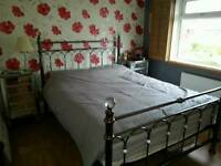 KING SIZE VICTORIAN BEDSTEAD & NEW MATT