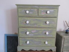 Solid Pine Chest of Drawer