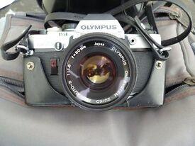Olympus OM 10 35 mm Camera, Lenses, Flash and Bag