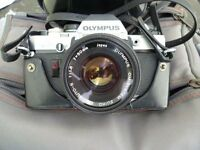 Olympus OM 10 35 mm Camera, Lenses, Flash and Bag