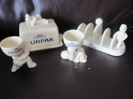 Lurpak breakfast set - toast rack, butter dish and egg cups