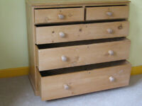 5-drawer, old, chest-of-drawers. Pine. looks good.