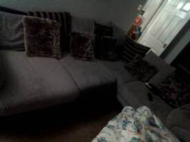 Corner couch and footstool