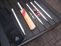 various items of cricket kit