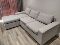 Grey Fabric Corner Sofa, Used, Good Condition, For Collection, SE1 London