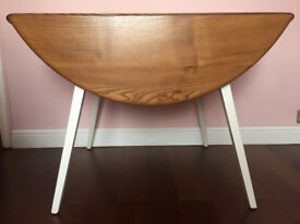 Solid Elm Ercol Blonde Drop Leaf Dining Table White