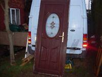 upvc brown door