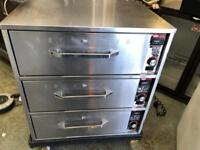 Electric Stainless Steel 3 Drawer Warmer