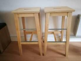 Wooden bar stools Ikea