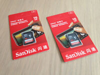 BRAND NEW - SanDisk Ultra 16 GB SDHC Class 10 Memory Card up to 48 Mbps