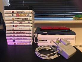 Nintendo 3DS XL - Red, 12 Games and Accessories!