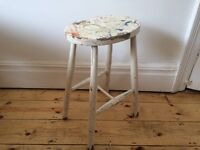Vintage Painted Artists Stool Worn and Lovely !!!