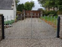 Garden decorative metal gates