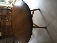 Ercol Round Dining Table Drop Leaf Golden Dawn