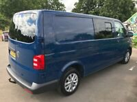VW TRANSPORTER T6 LWB Kombi. Insulated + lined, 6 seater (removable 2:1 seats in the rear)