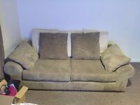 SCS Scatter Back Sofa, Swivel Chair And Foot Stool