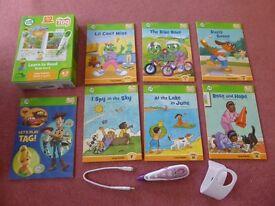 Excellent Leapfrog Tap Reader Pen & set of Long Vowel books - suits 3-7 years