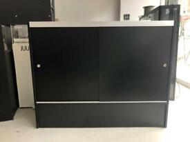 Stylish Glass Topped Retail Display Storage Unit