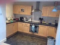Kitchen including fridge, washing machine and oven. Good condition