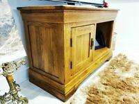 Solid Oak Small Television Unit (100x60x42.5cm) [Oak Furniture Land TV