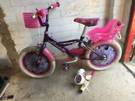 Girls bike 16 inch wheels suit roughly 5-7 year old