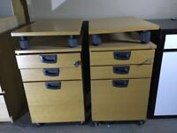 Office filing cabinet with wheels