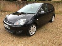 08/08 Ford Fiesta 1.4 TDCI Zetec Climate 5dr Black, New MOT £30 year tax