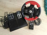 Logitech Formula Force EX driving wheel and pedals for pc
