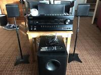 Onkyo TX-SR608 av receiver with speaker package